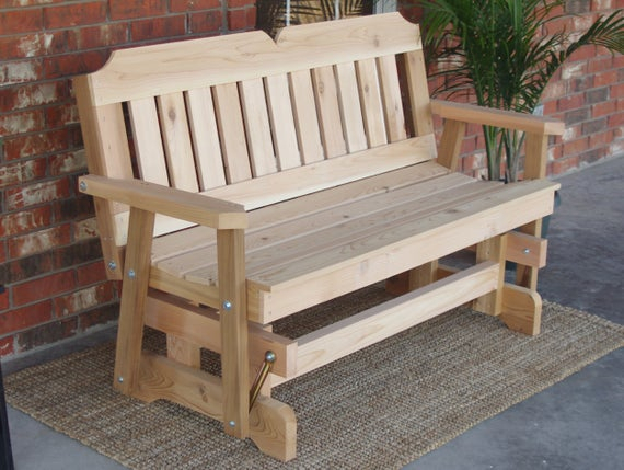 Brand New 4 Foot Cedar Wood Victorian Outdoor Glider – Free Shipping For Cedar Colonial Style Glider Benches (View 6 of 20)