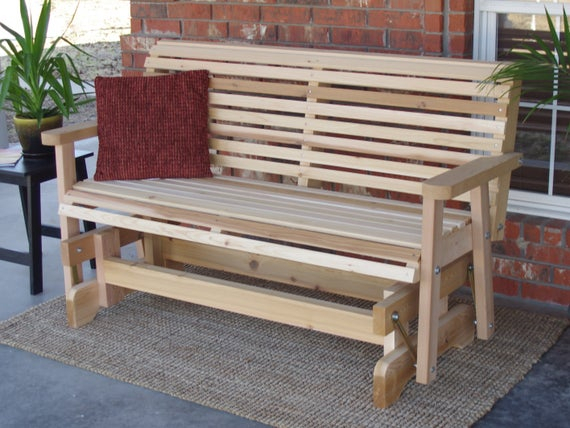 Brand New 6 Foot Cedar Wood Classic Outdoor Glider – Free Shipping For Cedar Colonial Style Glider Benches (View 7 of 20)