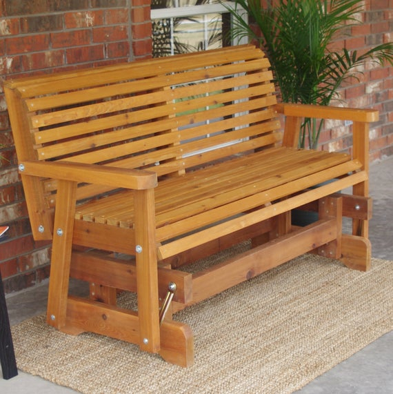 Brand New 6 Foot Cedar Wood Classic Outdoor Glider – Free Shipping Pertaining To Cedar Colonial Style Glider Benches (View 14 of 20)