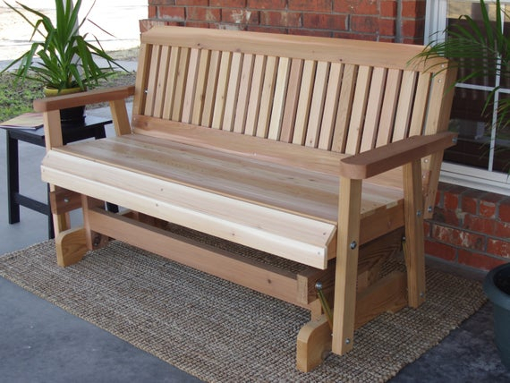 Brand New 7 Foot Cedar Wood Traditional Outdoor Glider – Free Shipping Within Cedar Colonial Style Glider Benches (View 20 of 20)