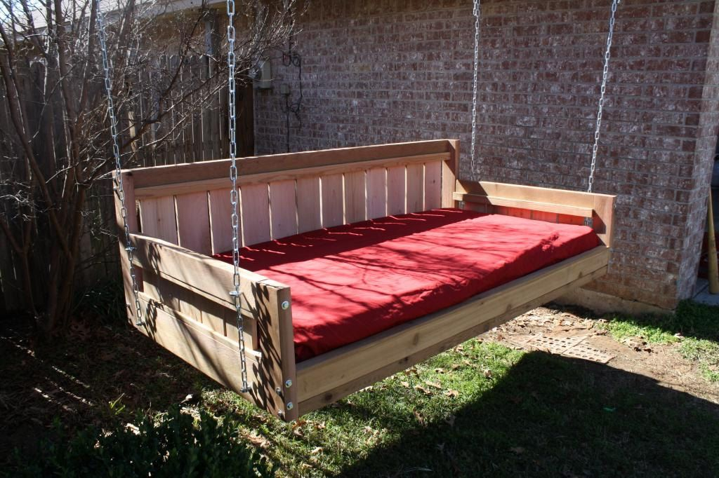 Brand New Cedar Daybed Swing In Country Style, Full Size Pertaining To Country Style Hanging Daybed Swings (View 3 of 20)