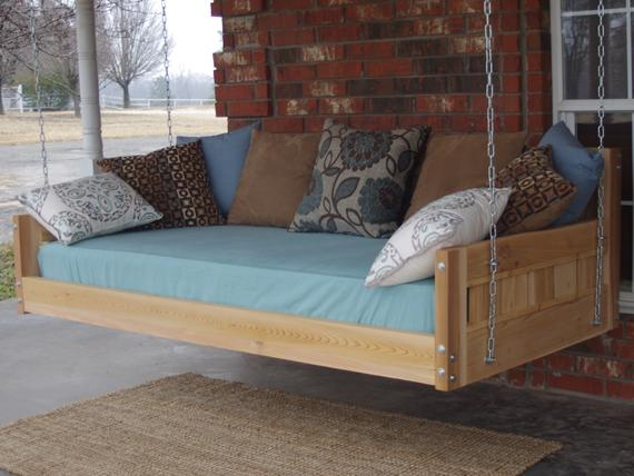 Brand New Cedar Daybed Swing In Country Style, King Size Swinging Bed With Hanging Chain Or Rope – Free Shipping Within Country Style Hanging Daybed Swings (View 18 of 20)