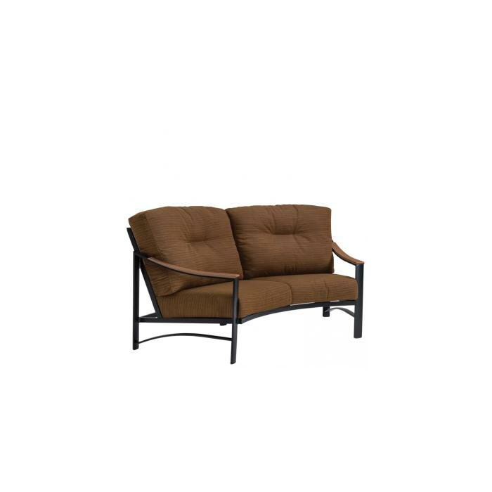 Brazo Crescent Loveseat With Cushions In Padded Sling Loveseats With Cushions (#2 of 20)