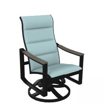 Brazo Padded Sling High Back Swivel Rocking Chair With Regard To Padded Sling High Back Swivel Chairs (#1 of 20)