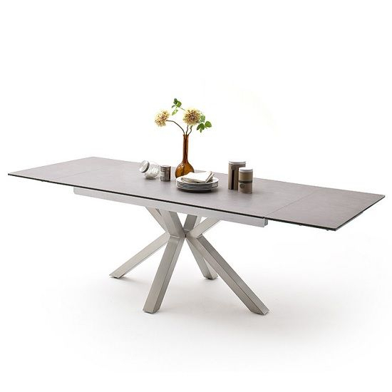 20 Inspirations of Dining Tables With Brushed Stainless ...