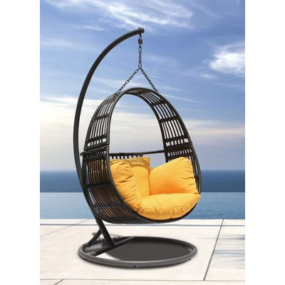 Bungalow Rose Clegg Patio Porch Swing With Stand In 2019 Inside Patio Porch Swings With Stand (View 4 of 20)