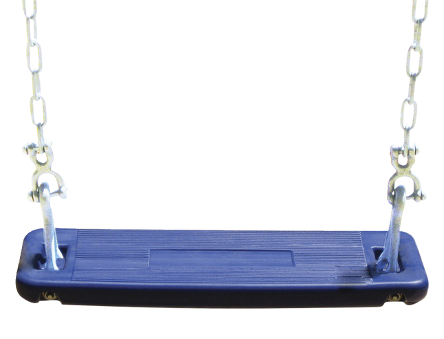 Burke Single Swing Seat With Chain, 10 Ft Beam Height, Polyethylene, Blue In Swing Seats With Chains (View 15 of 20)