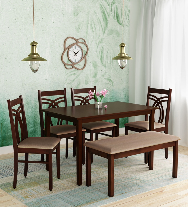Buy Momoko 6 Seater Dining Set In Wenge Finishmintwud Inside Most Recently Released Transitional 6 Seating Casual Dining Tables (View 7 of 20)