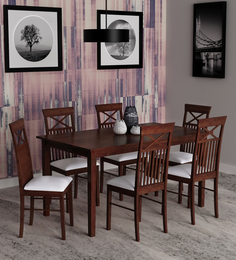 Buy Momoko 6 Seater Dining Set In Wenge Finishmintwud Throughout Preferred Transitional 6 Seating Casual Dining Tables (View 12 of 20)