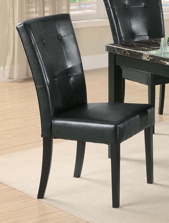 Cappuccino Finish Wood Classic Casual Dining Tables Inside Most Popular Anisa Collection – Anisa Black Side Chair (pack Of (View 16 of 20)