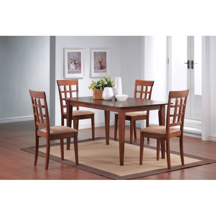 Cappuccino Finish Wood Classic Casual Dining Tables Regarding Most Up To Date Natalee Dining Table (View 19 of 20)