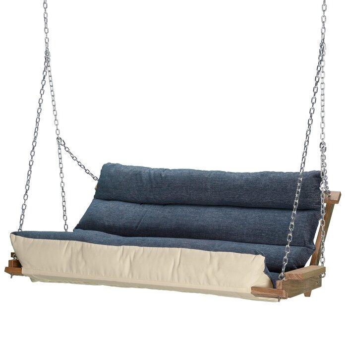 Carr Deluxe Cushion Porch Swing Regarding Deluxe Cushion Sunbrella Porch Swings (#3 of 20)