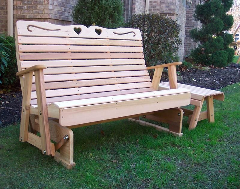 Cedar Country Hearts Rocking Glider , Glider Bench, Cedar For 2 Person Natural Cedar Wood Outdoor Gliders (View 8 of 20)