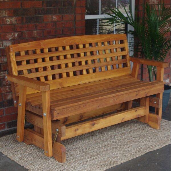 Cedar Glider Bench | Wayfair (View 13 of 20)