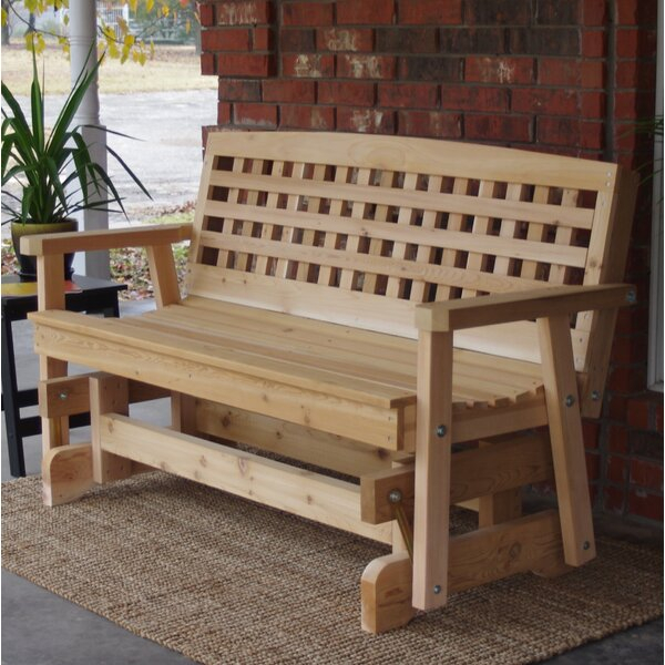 Cedar Glider Bench | Wayfair With Cedar Colonial Style Glider Benches (View 5 of 20)