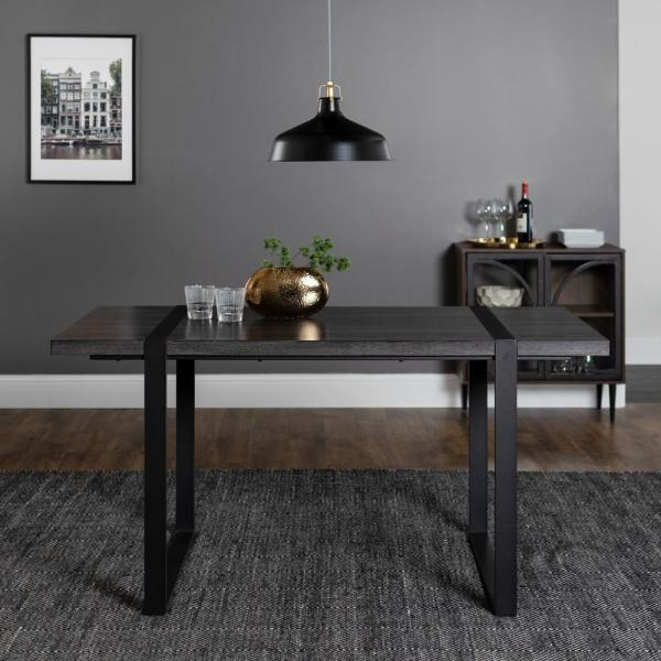 Charcoal Transitional 6 Seating Rectangular Dining Tables With Most Current Walker Edison Furniture Company Urban Blend 60 In (#5 of 20)