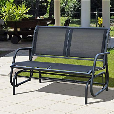Charles Bentley Twin Glider Rocking Bench With Mesh Seat Intended For Twin Seat Glider Benches (View 13 of 20)