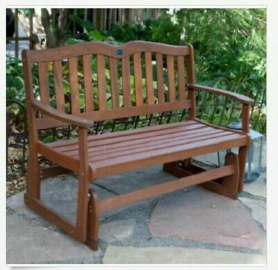 Charles Bentley Twin Glider Rocking Bench With Mesh Seat Within Twin Seat Glider Benches (View 15 of 20)