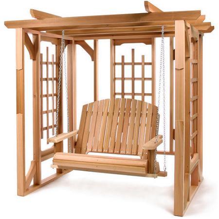 Cheap Cedar Swing Sets, Find Cedar Swing Sets Deals On Line Regarding A4 Ft Cedar Pergola Swings (View 9 of 20)