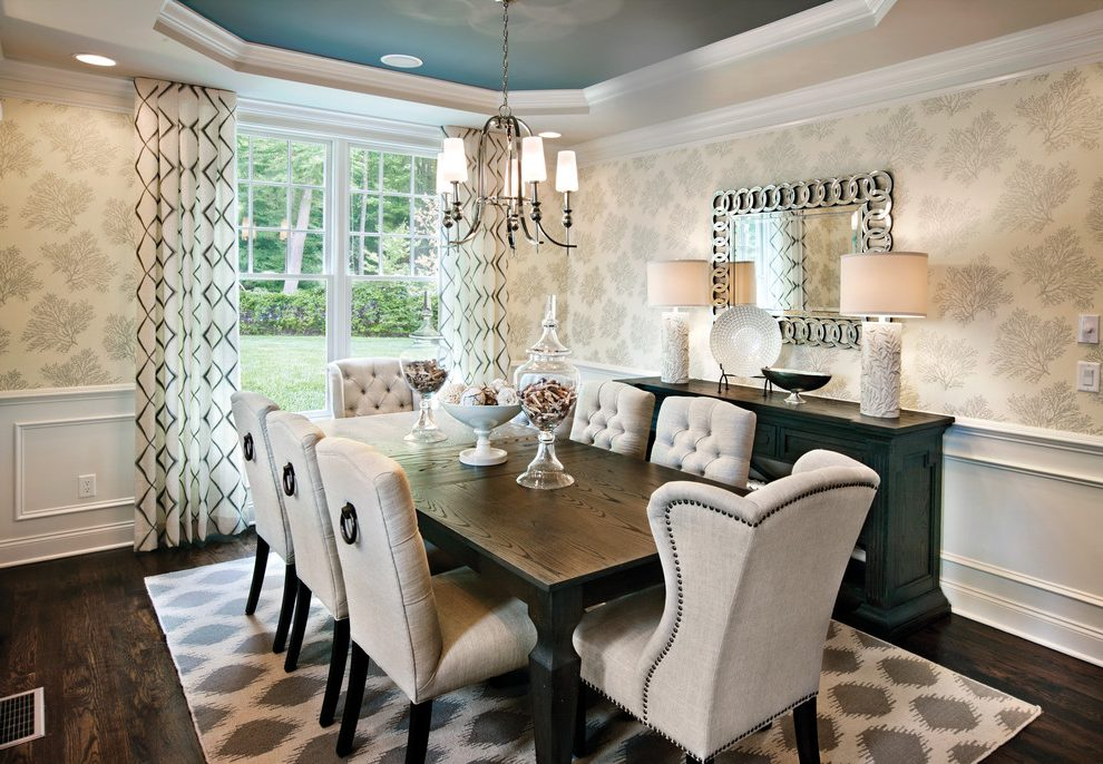 Chicago Transitional Dining Room Dining Room Transitional Regarding Most Popular Transitional Rectangular Dining Tables (#3 of 20)