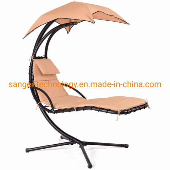 China Giantex Hanging Chaise Lounger Chair Arc Stand Porch Inside Outdoor Canopy Hammock Porch Swings With Stand (View 17 of 20)