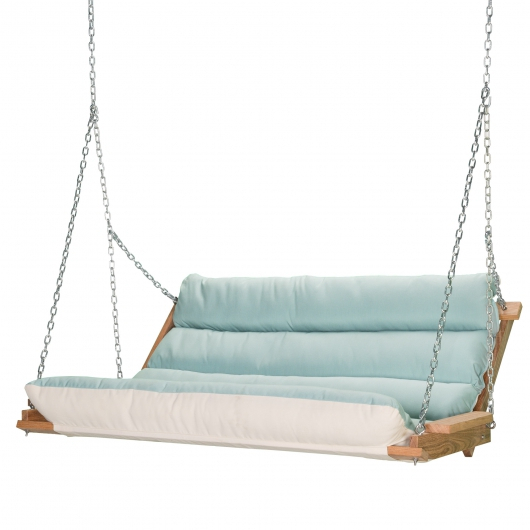 Chz2X Cm | Deluxe Cushion Swing – Spectrum Mist Inside Deluxe Cushion Sunbrella Porch Swings (#4 of 20)