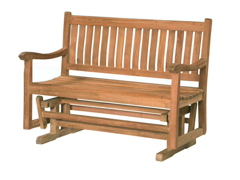 Classic 4' Glider Bench – Douglas Nance Teak Wholesale Intended For Classic Adirondack Glider Benches (View 10 of 20)