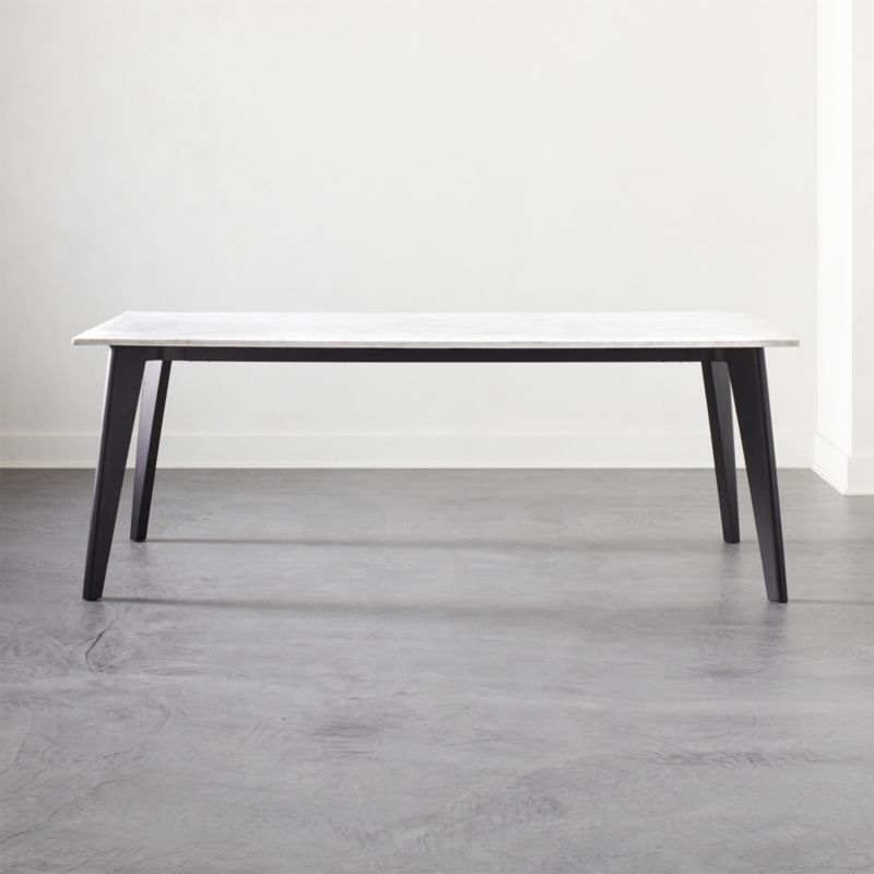 Client Intended For Frosted Glass Modern Dining Tables With Grey Finish Metal Tapered Legs (#5 of 20)