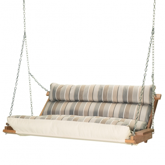 Cneu3X Cm | Deluxe Cushion Swing – Milano Char Throughout Deluxe Cushion Sunbrella Porch Swings (#5 of 20)