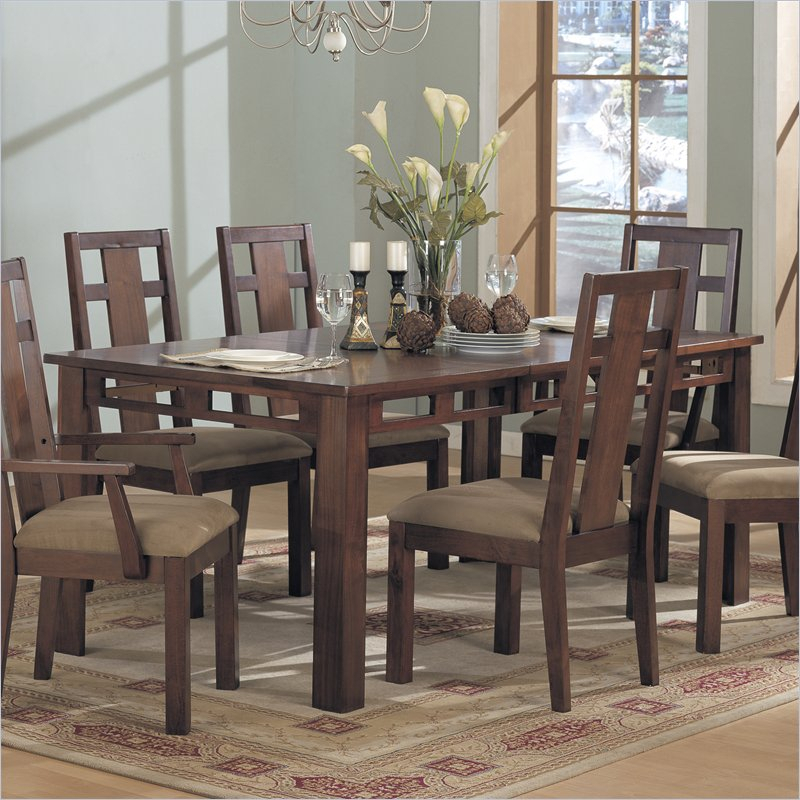 Coaster Contemporary 6 Seating Rectangular Casual Dining Tables In Fashionable Enchantment Rectangular Casual Dining Table In Rich (View 19 of 20)