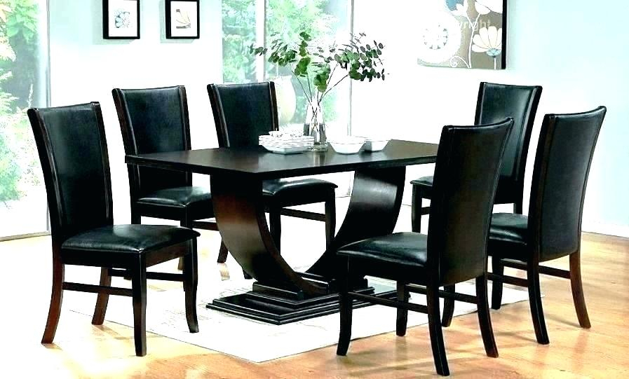 Coaster Contemporary 6 Seating Rectangular Casual Dining Tables Pertaining To Preferred Black Dining Room Sets Modern Wish Table Gokool (View 8 of 20)