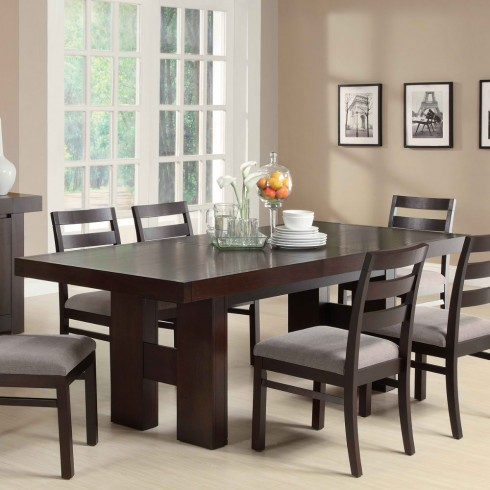 Coaster Dabny Collection Dining Table In Cappuccino Throughout Most Current Cappuccino Finish Wood Classic Casual Dining Tables (View 14 of 20)