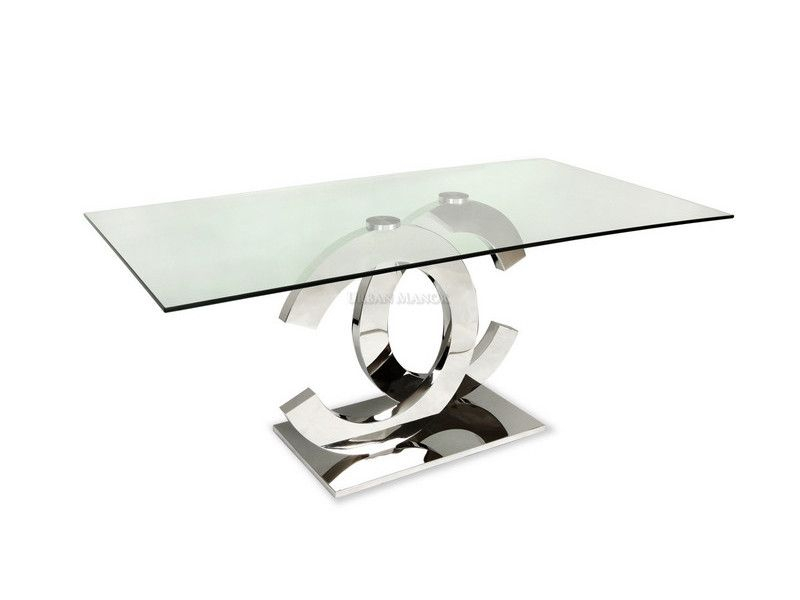 Coco Dining Table: The Very Sleek Mirror Polished Stainless Regarding Favorite Long Dining Tables With Polished Black Stainless Steel Base (#2 of 20)