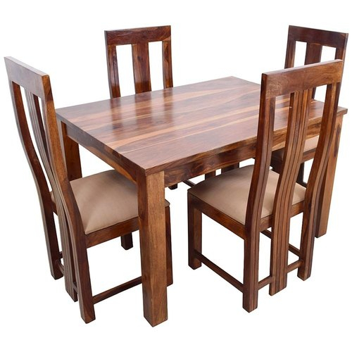 Contemporary 4 Seating Oblong Dining Tables In Most Popular Wooden 4 Seater Dining Table Set (#6 of 20)