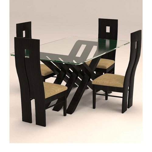 Contemporary 4 Seating Oblong Dining Tables In Most Up To Date Modern 4 Seater Dining Table Set (#7 of 20)