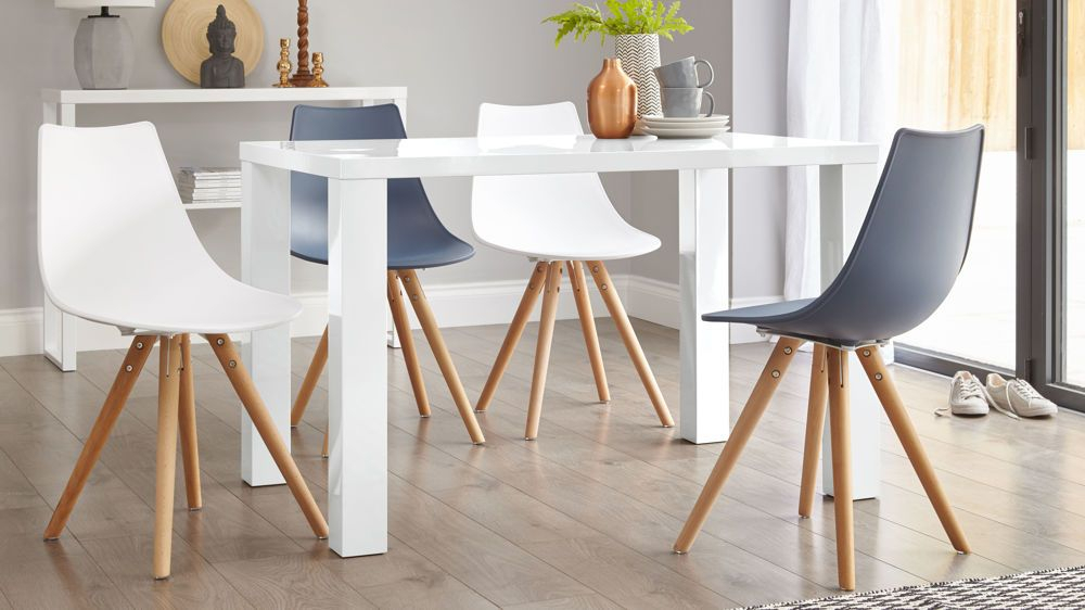 Contemporary 4 Seating Oblong Dining Tables Throughout Latest Fern White Gloss 4 Seater Dining Table (#9 of 20)
