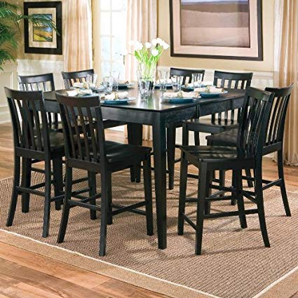 Contemporary 6 Seating Rectangular Dining Tables In 2019 Counter Height Dining Table And Chairs Aspiration 9Pcs (#7 of 20)