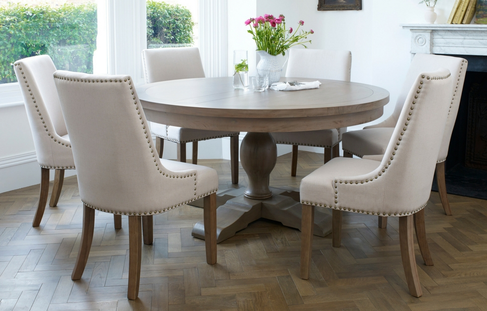 Contemporary 6 Seating Rectangular Dining Tables Pertaining To Most Recent Balmoral Classic 6 Seater Round Dining Table & Chair Set (#8 of 20)