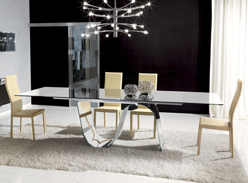 Contemporary Dining Table / Tempered Glass / Rectangular In Well Known Contemporary Rectangular Dining Tables (View 6 of 20)
