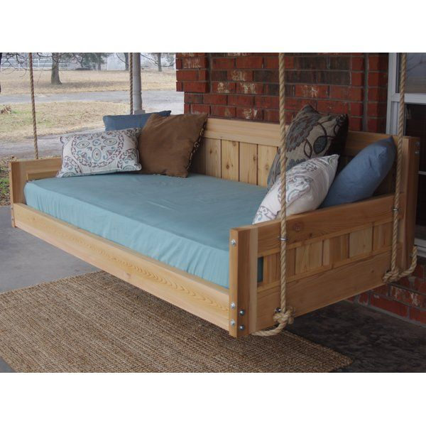 Conyers Hanging Daybed Rope Porch Swing | Hunde With Country Style Hanging Daybed Swings (View 6 of 20)