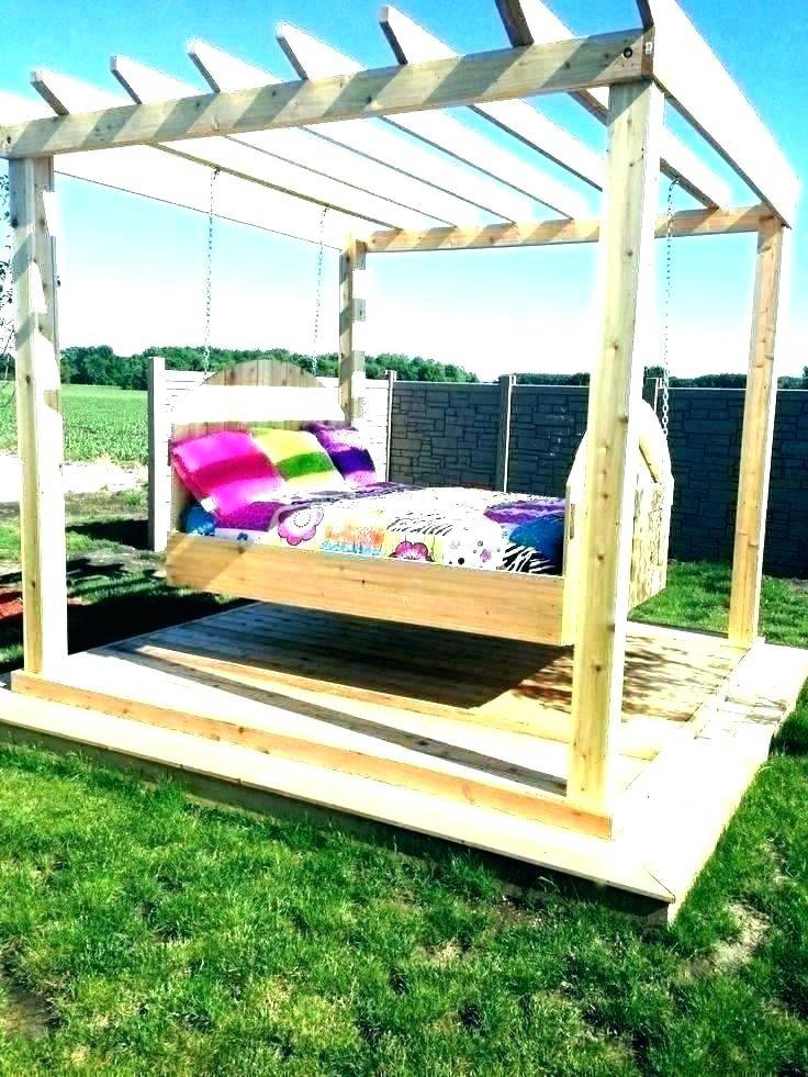 Cool Hanging Porch Swing Cushions Plans Round Bedrooms Patio Intended For Canopy Patio Porch Swing With Stand (View 9 of 20)