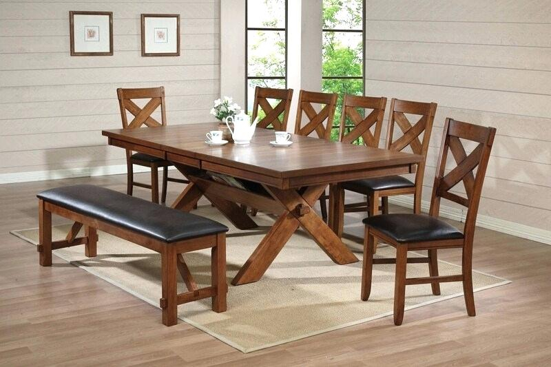 Country Dining Tables With Weathered Pine Finish Pertaining To Newest Country Dining Table Set – Worldofseeds (#4 of 20)