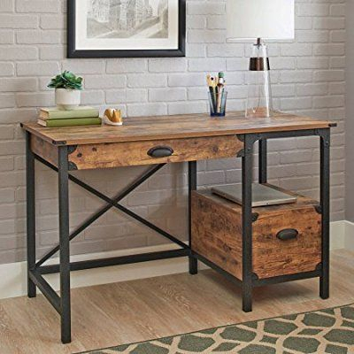 Country Dining Tables With Weathered Pine Finish Throughout Well Liked Better Homes And Gardens Rustic Country Desk, Weathered Pine (#6 of 20)