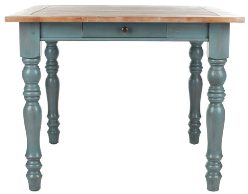 Country Dining Tables With Weathered Pine Finish With 2019 Amh6556A Dining Tables – Furnituresafavieh (#7 of 20)