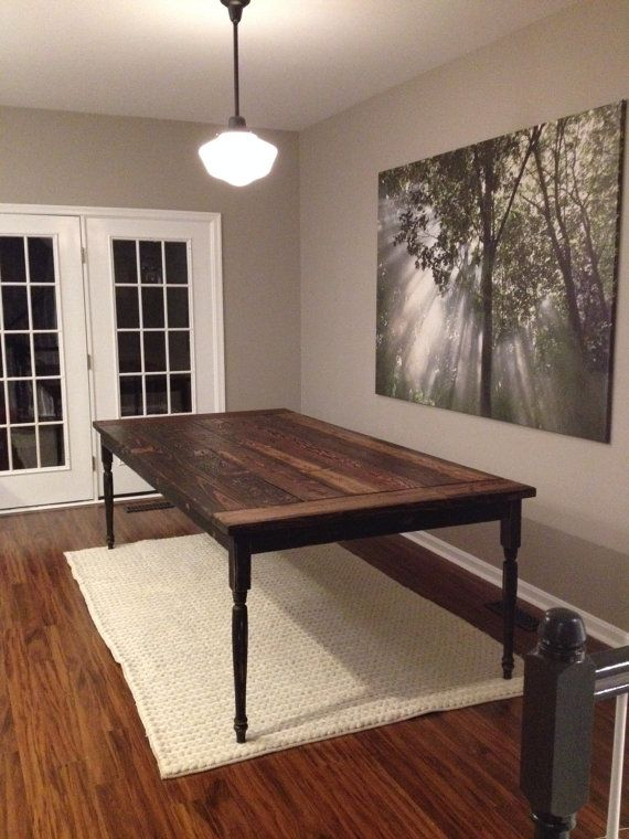Country Dining Tables With Weathered Pine Finish With Regard To Recent Dining Table, Farmhouse Table, French Country Table (#9 of 20)