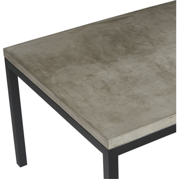 Crate With Thick White Marble Slab Dining Tables With Weathered Grey Finish (#6 of 20)