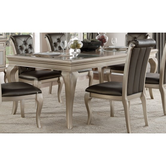 Crawford Transitional Rectangular Extendable Dining Table For Recent Transitional Rectangular Dining Tables (#4 of 20)