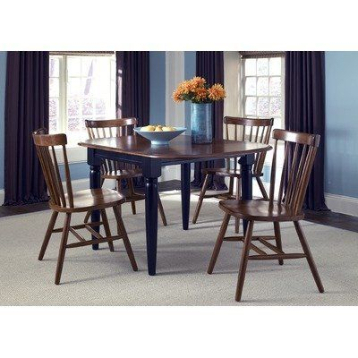 Creations Ii Casual 5 Piece Drop Leaf Dining Set In Black With Popular Transitional 4 Seating Drop Leaf Casual Dining Tables (#4 of 20)