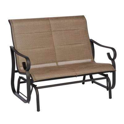 Crestridge Padded Sling Outdoor Glider In Putty With Regard To Padded Sling Double Glider Benches (View 13 of 20)