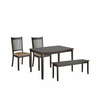 Current 4 Piece Minimalistic Dining Set With Dining Chair And Bench With Dining  Table (#17 of 20)